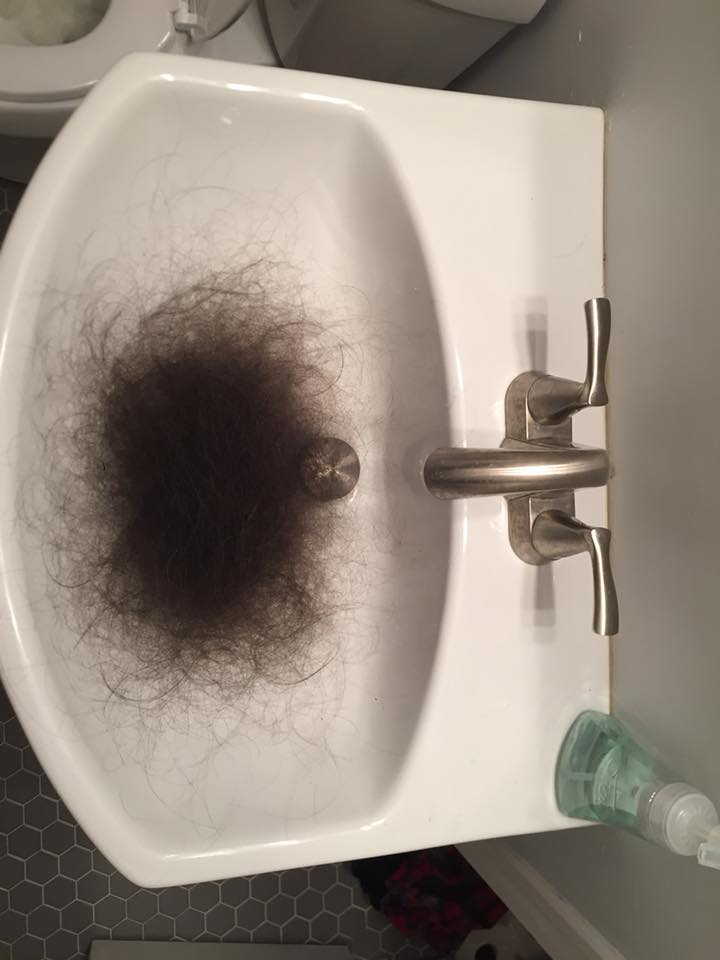 sink hair